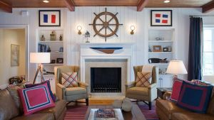 Ship-wheel-above-the-fireplace-becomes-an-instant-focal-point