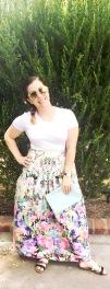 Forever 21 Crop Top, Crossroads Trading Co Floral Maxi Skirt, Daniel Wellington Watch & Cuff