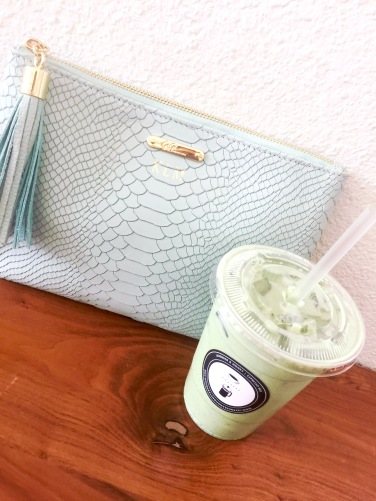 Gigi New York Clutch, Lavender and Honey Iced Matcha