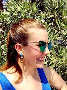 T&J Designs Sunnies, Leopard & Turquoise Earrings