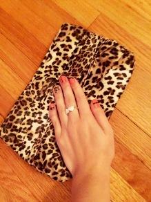 Leopard Print Clutch with Nail Art Mani