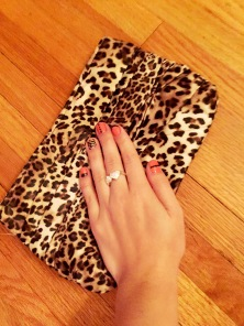 Leopard Print Clutch with Nail Art Mani