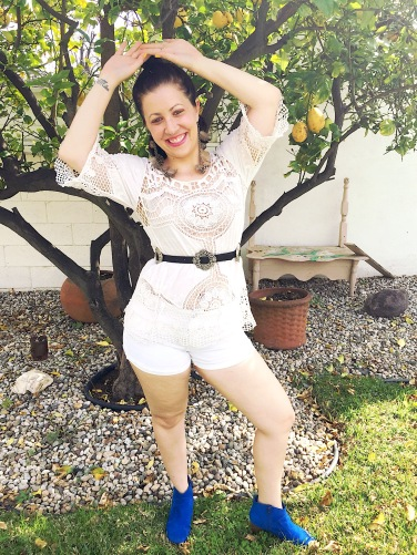Embroidered Top, Western Wear Belt, Celebrity Pink Jean Shorts, Chinese Laundry Booties